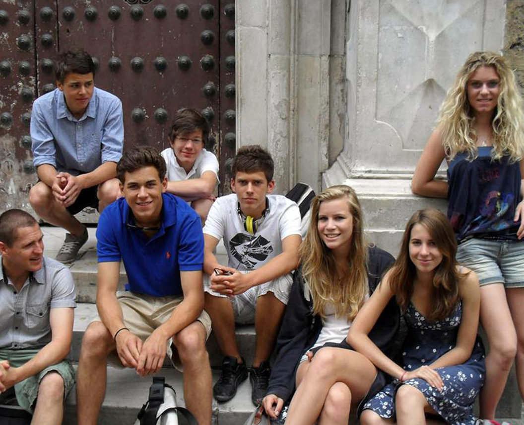 Students in Barcelona to improve their Spanish language skills